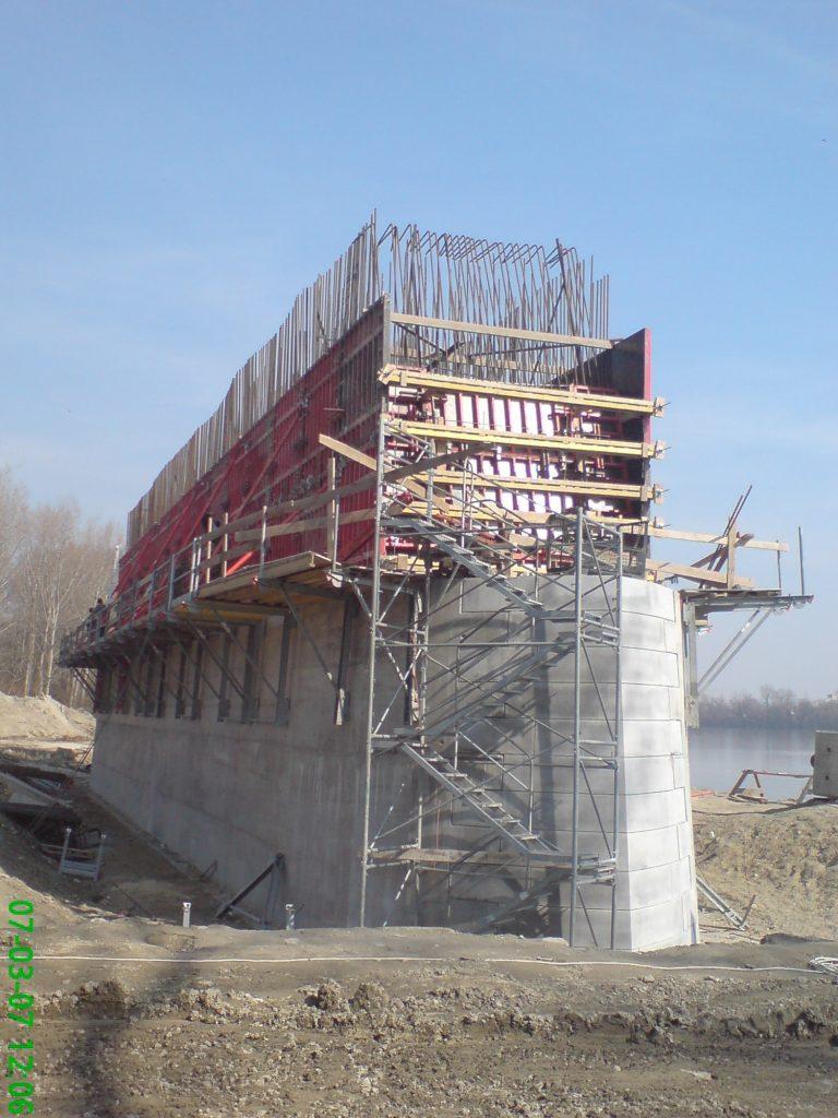 megyeri-híd építés, hídépítés
